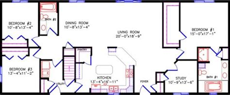 Tri Level Home Plans Designs simple one story open floor plan rectangular google