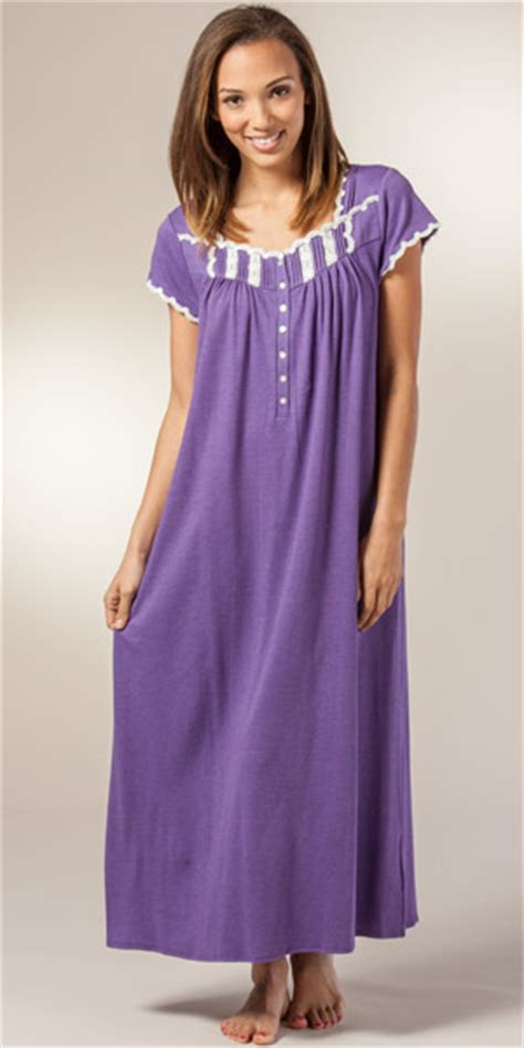 plus size cotton knit nightgowns eileen west plus nightgowns whisper soft cotton