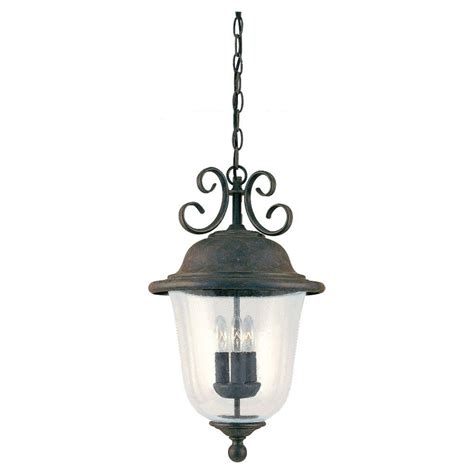 home depot pendant light fixtures sea gull lighting herrington 2 light outdoor black hanging