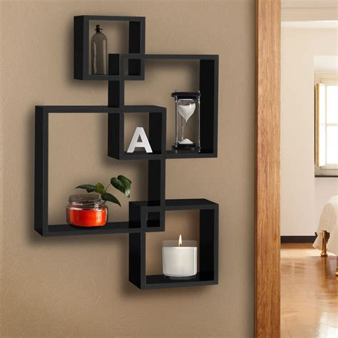 ebay home decor bcp intersecting squares floating shelf wall mounted home