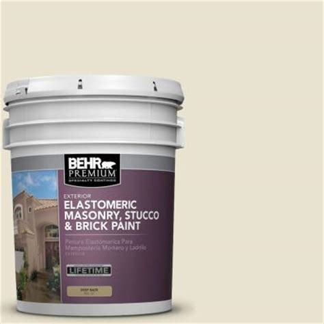 home depot stucco paint colors behr 5 gal white satin masonry stucco and brick