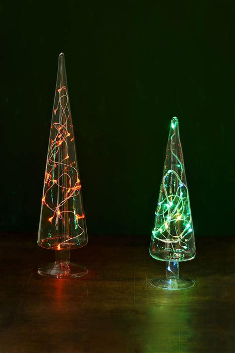 tree glass glass tree finial 10in