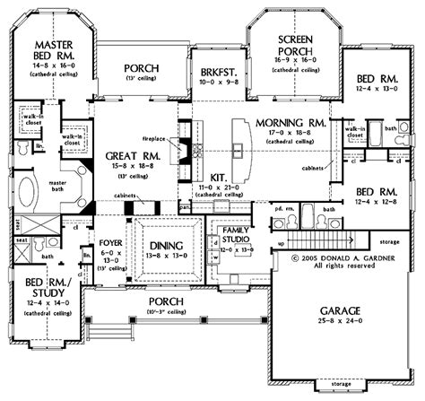 one story floor plans with two master suites one story two master bedroom house plans