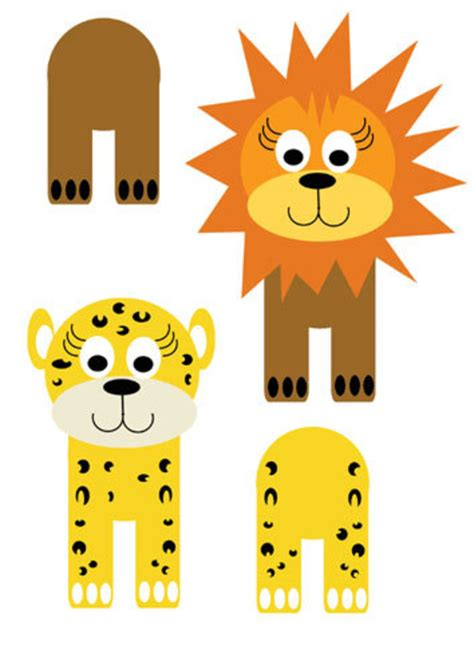 easy animal crafts for free printables animals cardboard cats printables