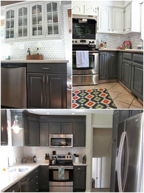 grey painted kitchen cabinets remodelaholic gray painted fireplace focal wall