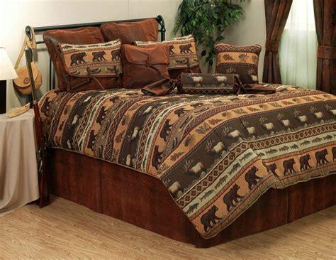 cabin comforter sets jackson moose elk rustic cabin lodge bedding