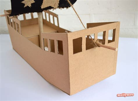 ship craft for mollymoocrafts diy cardboard pirate ship craft tutorial