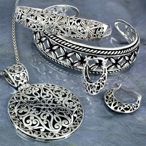 filigree for jewelry sterling silver filigree hoop earrings 1 0
