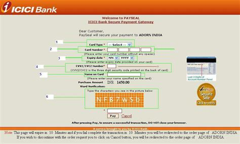 make icici credit card payment adorn india credit debit card payment guide
