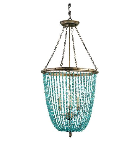 turquoise beaded chandelier contemporary turquoise beaded 3 light chandelier