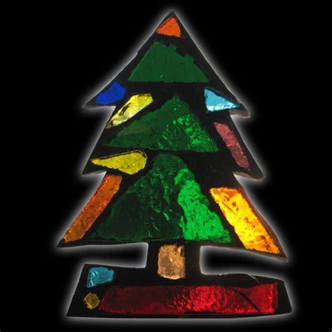 Desk Designs glass mountain dalle de verre stained art glass christmas tree