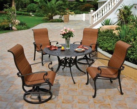 aluminum patio furniture with cushions patio design ideas outdoor swivel dining chairs ideas with dining table