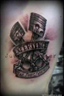bilinspirerte tatoveringer on pinterest piston tattoo