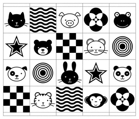 black and white picture books for babies black white baby animals fabric jenimp spoonflower