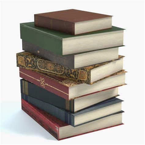 3d picture books 3d model stack books