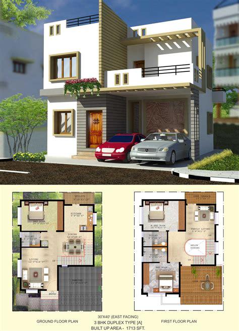 house plans for 30x40 site west facing duplex home plans