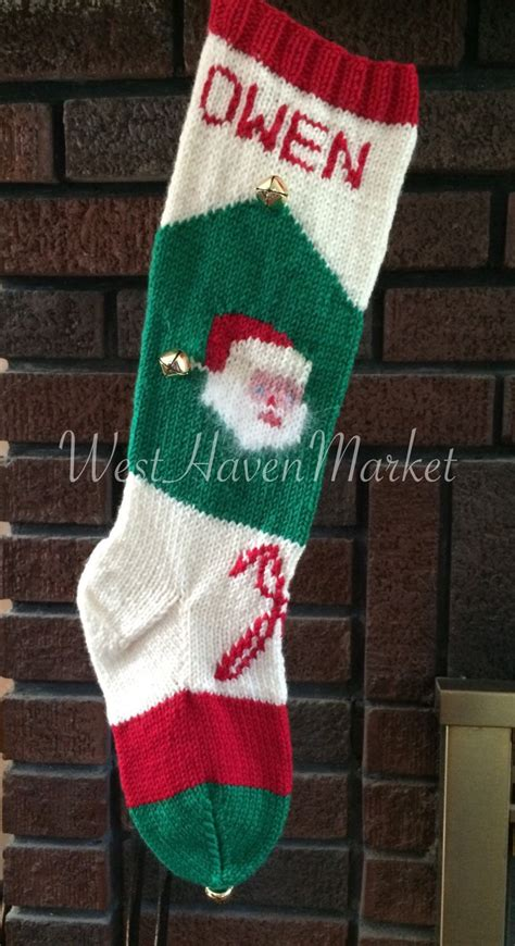 knit personalized kit for vintage personalized knit santa with canes