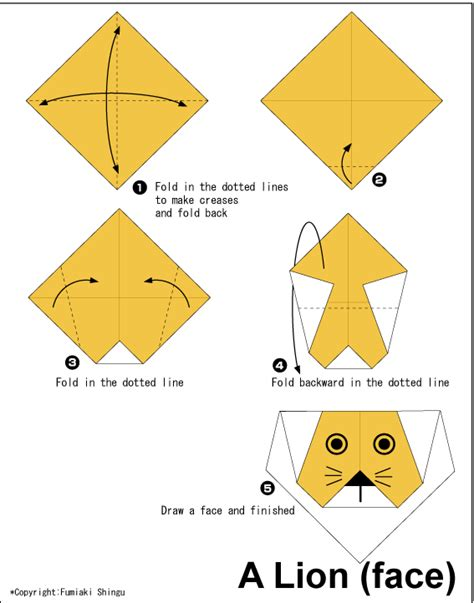 origami animals diagrams easy origami for