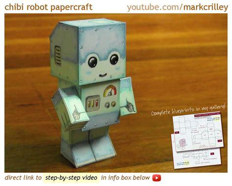 robot craft for chibi robot papercraft by markcrilley on deviantart