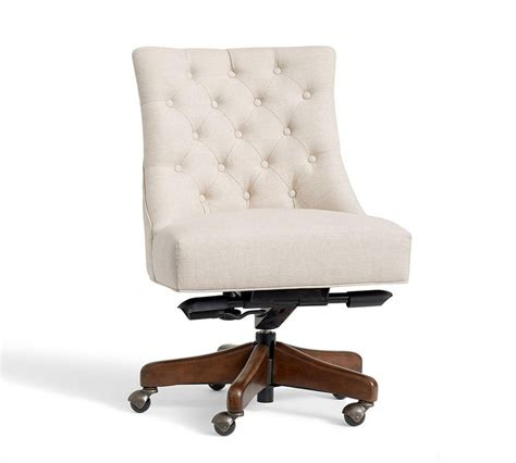 tufted swivel desk chair pottery barn au