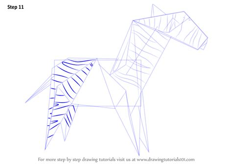 origami zebra learn how to draw an origami zebra everyday objects step
