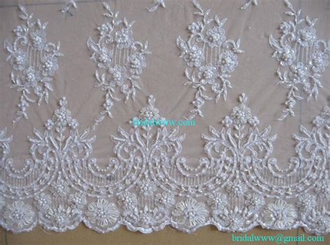beaded lace fabric 15 yards custom made quality ivory exquisite beaded lace