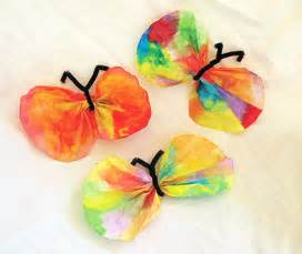 easy children crafts easy crafts coffee filter butterfly craft