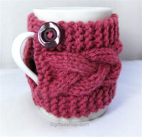 knitted cup cozy pattern cabled cup cozy knitting pattern coffee mug pattern pdf n