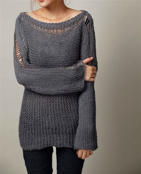 knit sweater oversized knit sweater eco cotton oversized sweater in