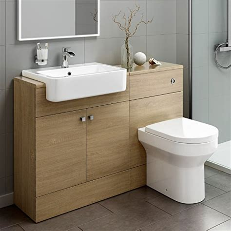 wood vanity units bathroom 1160mm luxury oak wood toilet sink vanity unit bathroom
