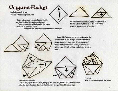 origami paper works origami pocket playful bookbinding and paper works