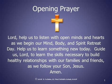prayer for opening opening prayer lord help us to listen with open minds and