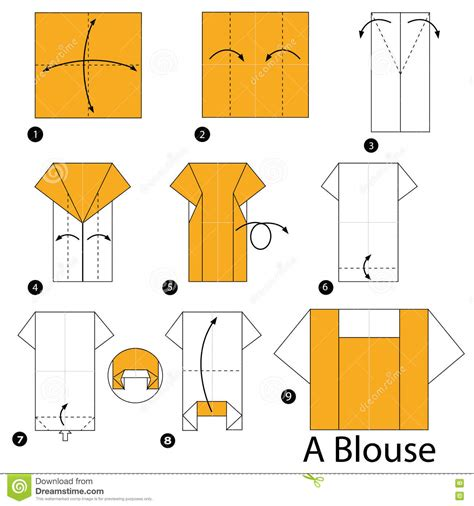 origami blouse step by step how to make origami a blouse