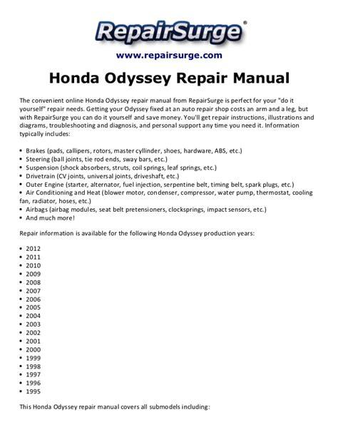 small engine repair training 2012 honda odyssey user handbook honda odyssey repair manual 1995 2012