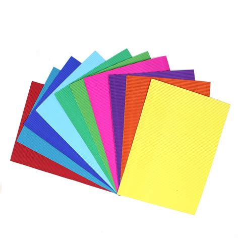 a4 paper craft corrugated coloured paper a4 10 pack hobbycraft