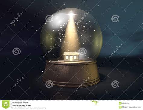 manger snow globe snow globe nativity stock illustration image