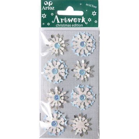 card embellishments glitter snowflake craft and festive card