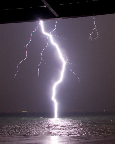 A Lightning Bolt Hits Water So You Can See Its
