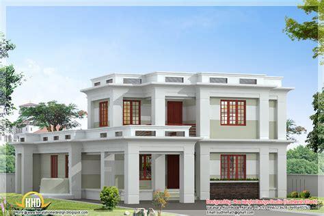 home design roof plans flat roof modern home design kerala house plans including