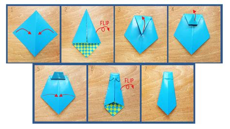 how to make an origami tie make the coolest card for s day ride