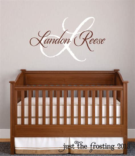 monogram wall decals for nursery baby boy nursery wall decal monogram name by justthefrosting