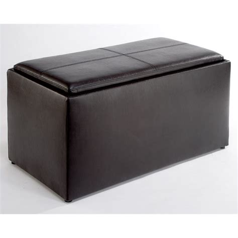 espresso ottoman storage storage bench ottoman in espresso 143012