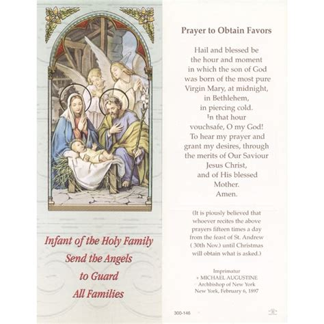 A Frames For Sale holy family prayer to obtain favours bookmark cm 6x15 5 2