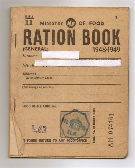 pictures of ration books ministry of food ration book 1948 i remember us taking
