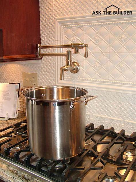 kitchen pot filler faucets pot filler faucet ask the builder