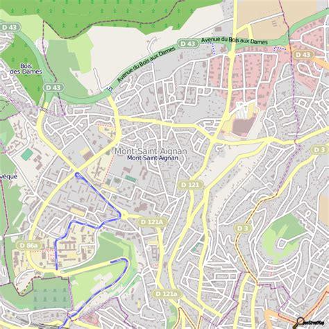 plan mont aignan carte ville mont aignan