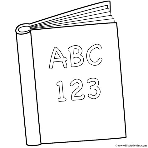 pictures of books to color abc and 123 book coloring page back to school