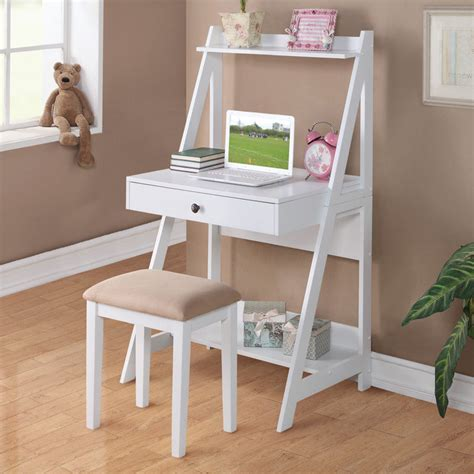 small white desk for 2 pc white student small writing desk and stool w large