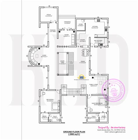 houses and floor plans contemporary home plan by de sine factory kerala home design and floor plans