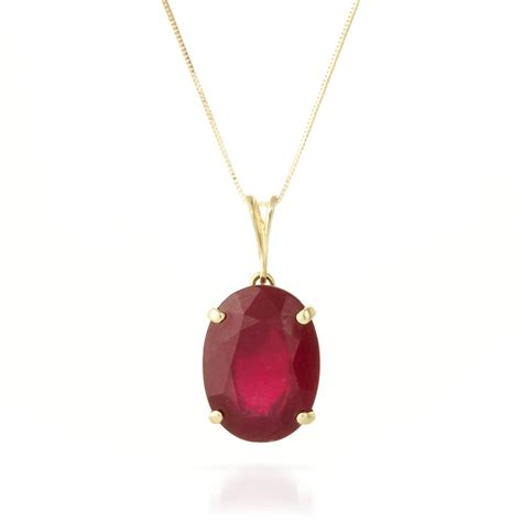 ruby gold necklace 14k gold oval necklace with 7 70ct ruby pendant gj4170y